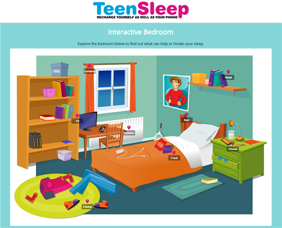 Teen sleep room
