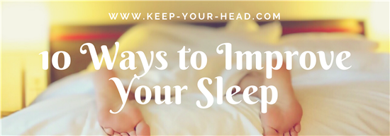 Ways to Sleep Better Blog Banner