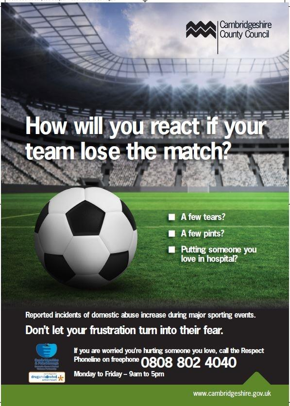 Domestic abuse footabll poster lose
